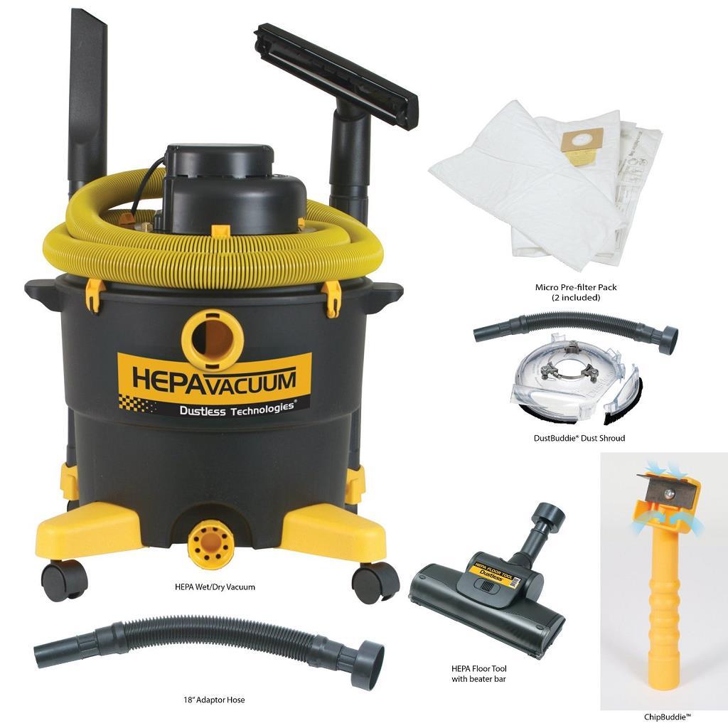 dustless wetdry hepa vacuum epa kit d1608 - Hepa Vacuum